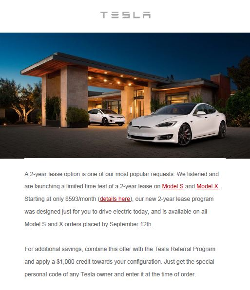 Tesla 2 Year Lease