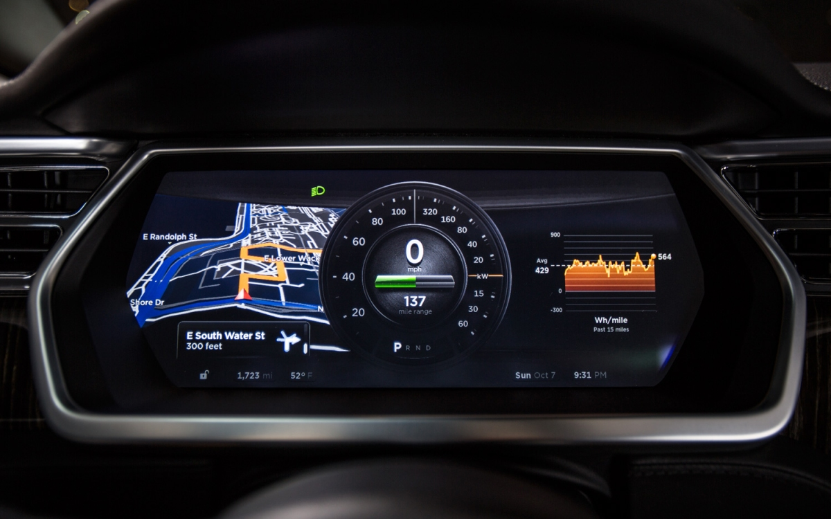 What's with the Tesla Circular Speedometer?