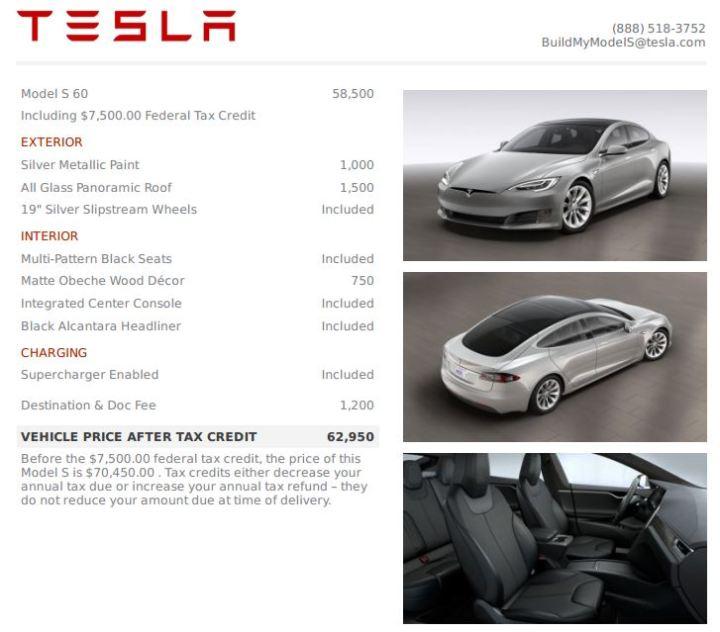 Tesla Model S under $60k